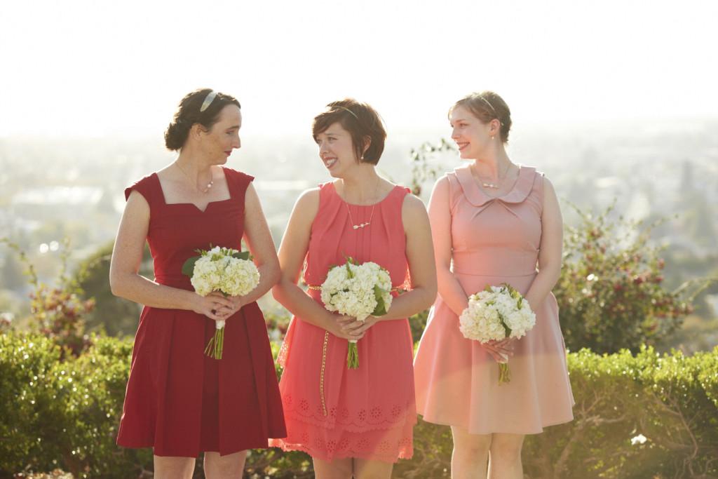 Bridesmaids in ombre