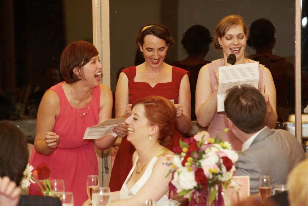 The bridesmaid's speech