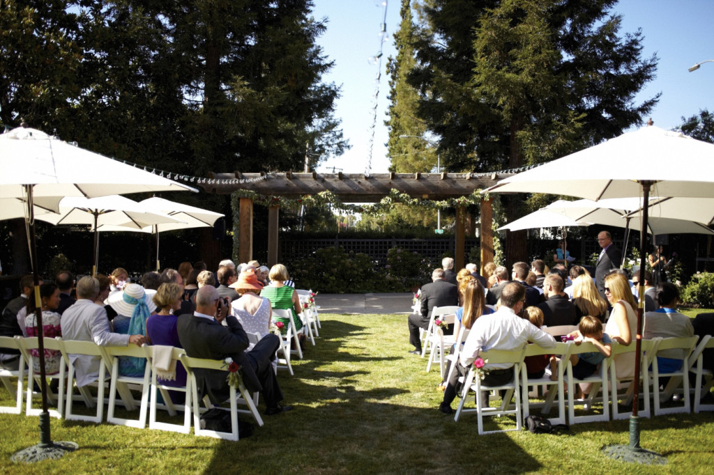 Guests seated before the ceremony