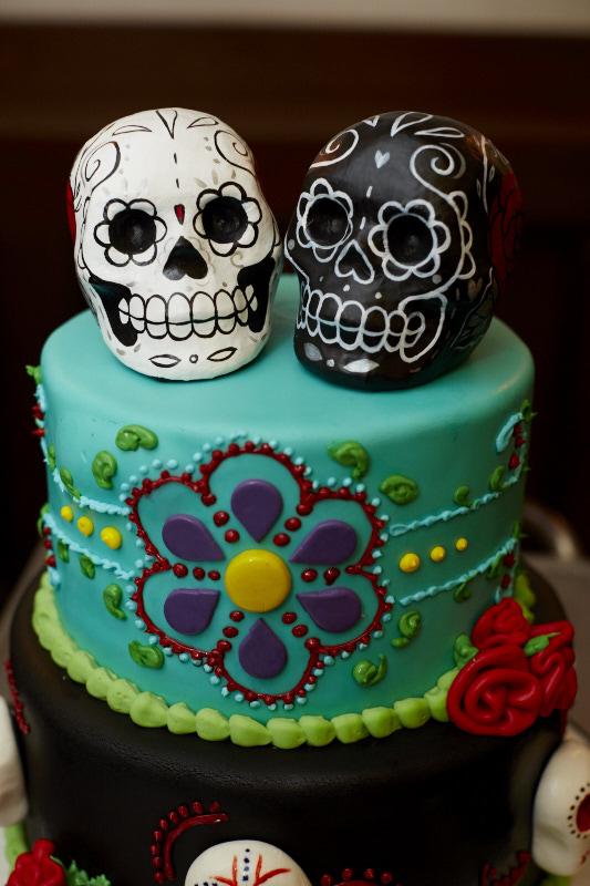 Sugar Skull Cake Toppers