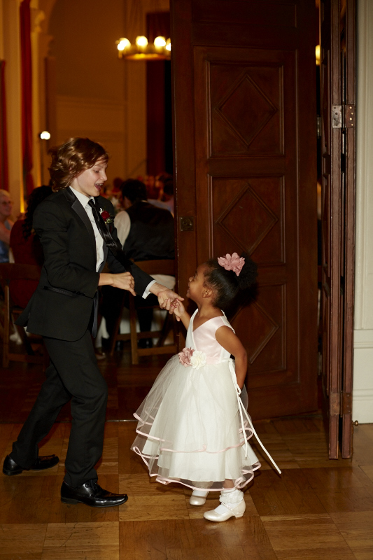 Dancing with the flower girl.