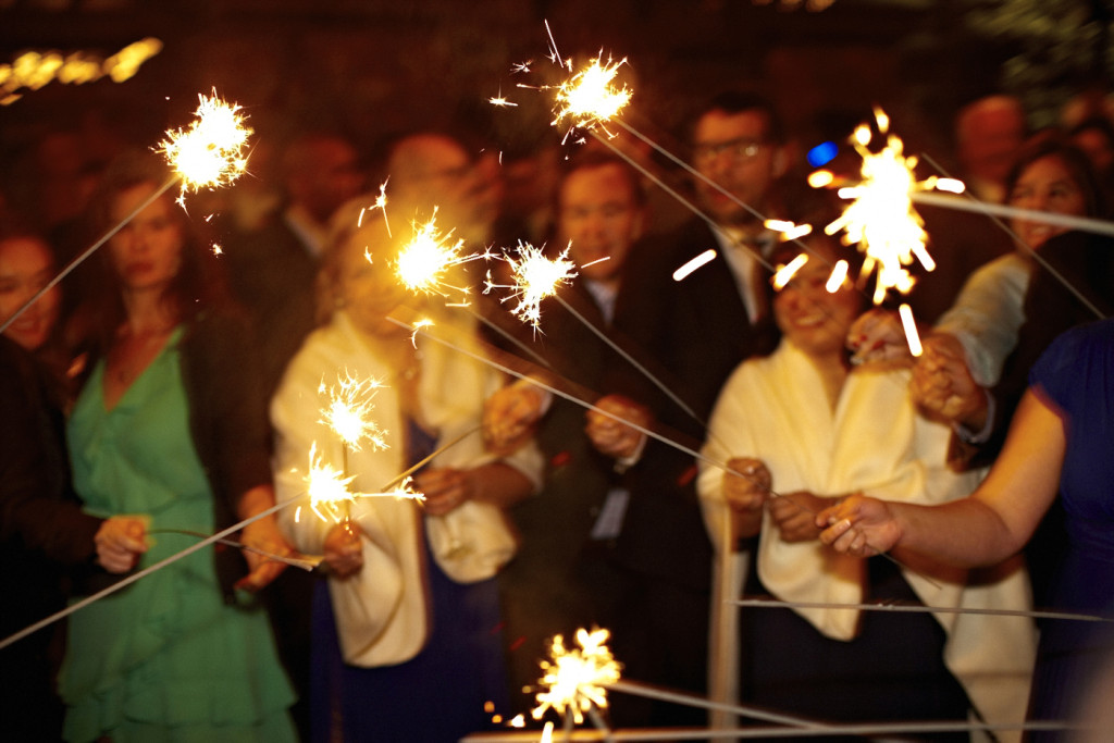 A sparkler circle for the first dance.