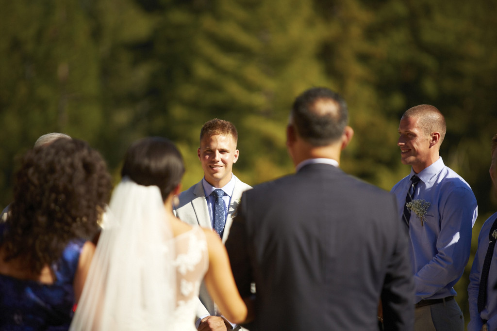 The groom's smile