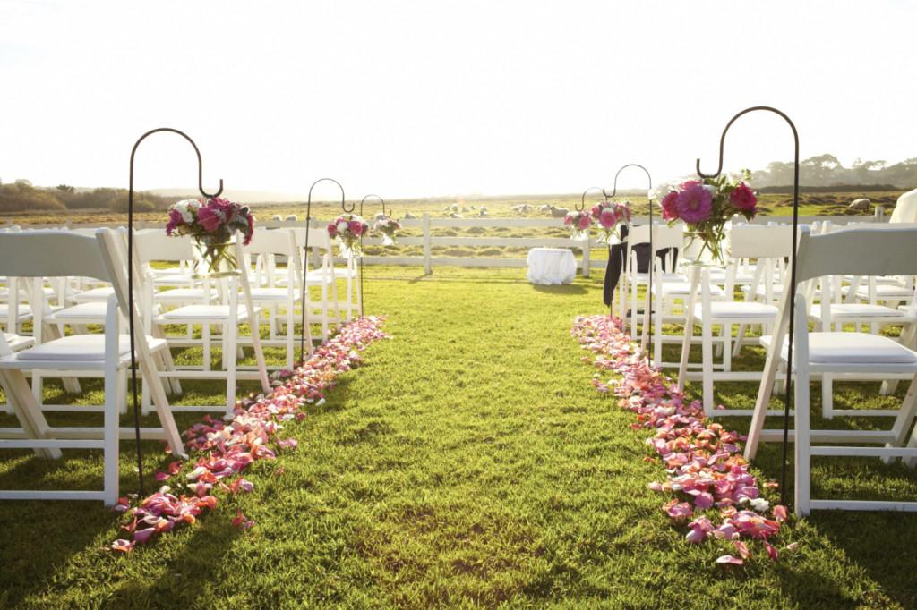 The ceremony set up