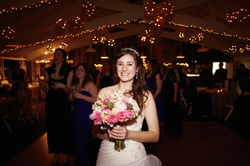 The bouquet is tossed