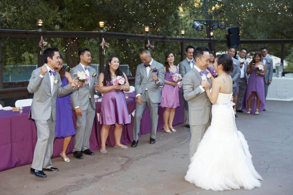Dancing with an appreciative wedding party.