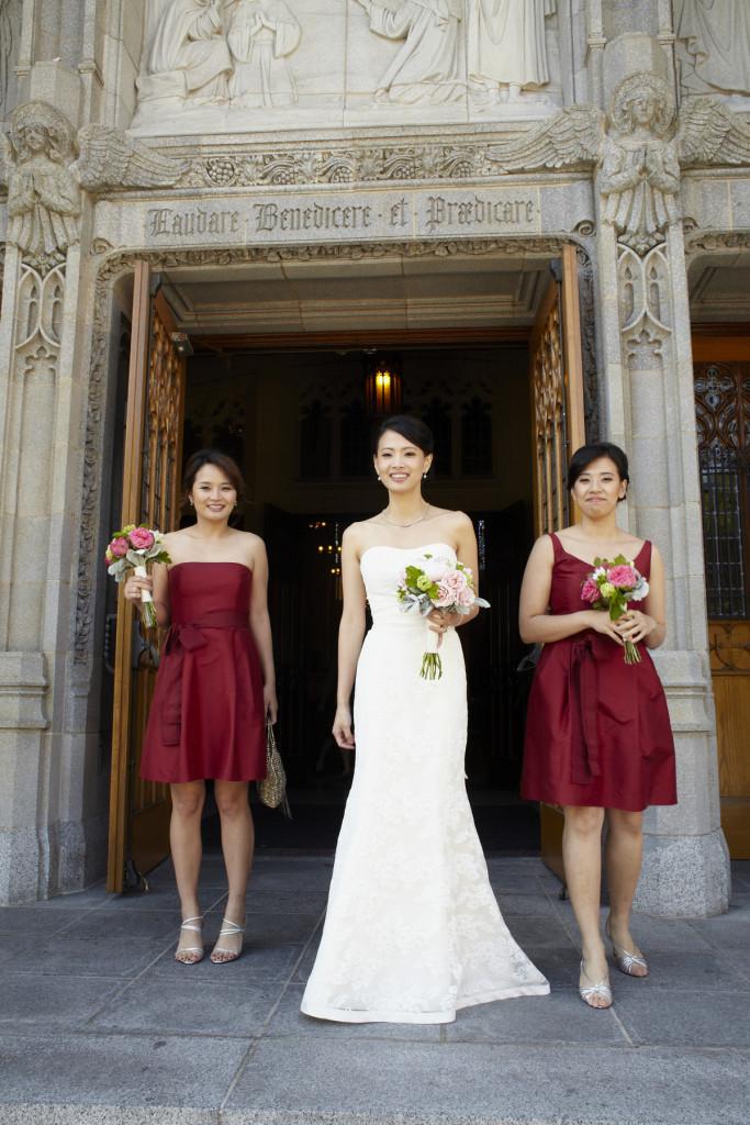 Bride leaving the church