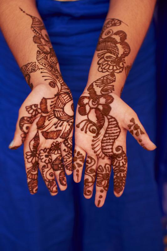 A finished mehndi pattern