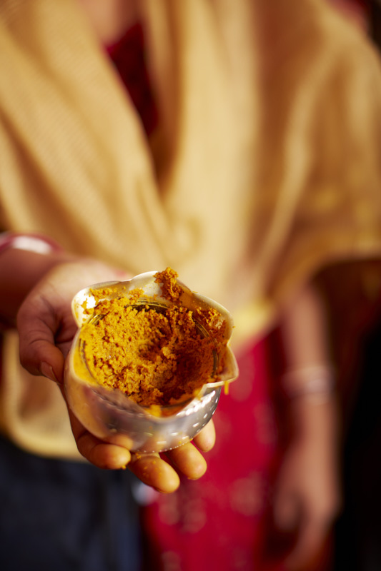 A closer look at the turmeric paste.