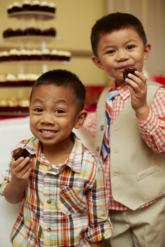 Dapper Guys Enjoying Their Desserts