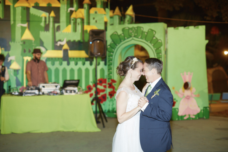 A first dance in front of the Emerald City.