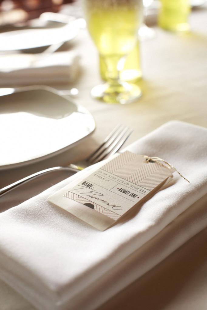 Table card at Lake Chalet
