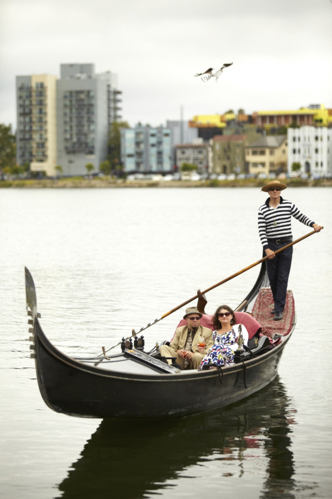The gondola returns