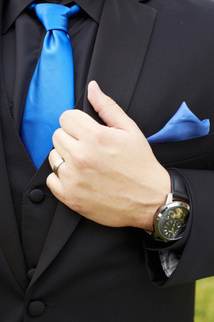 Wedding ring and watch