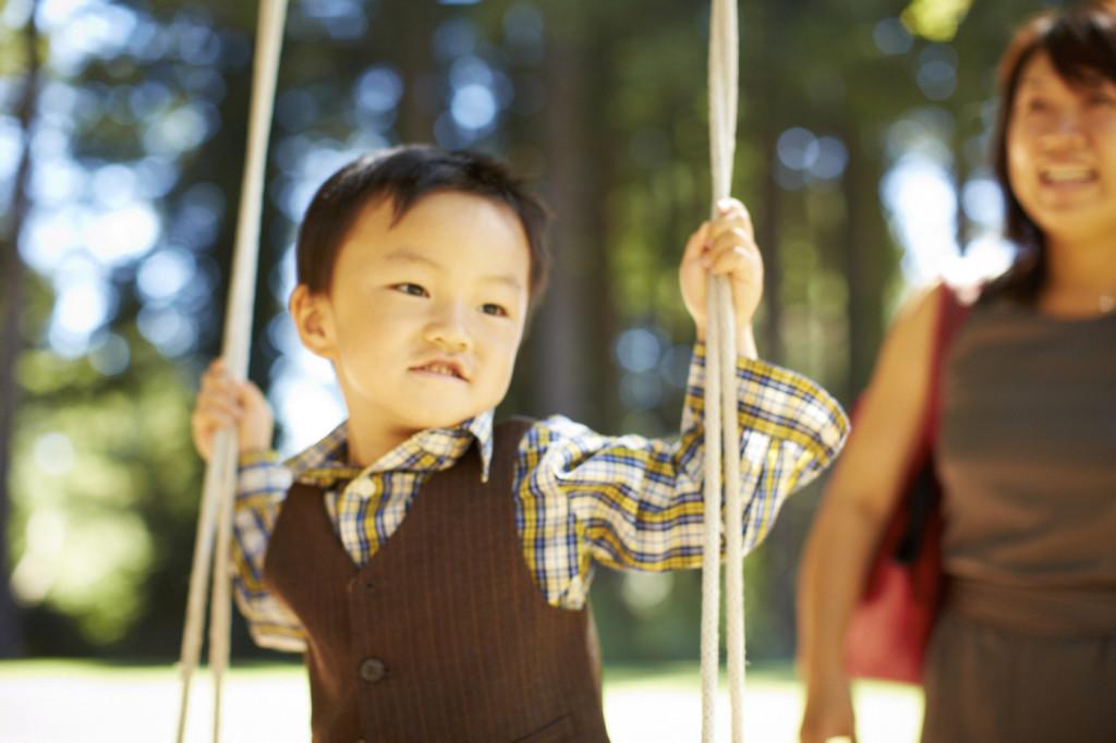 Enjoying a swing