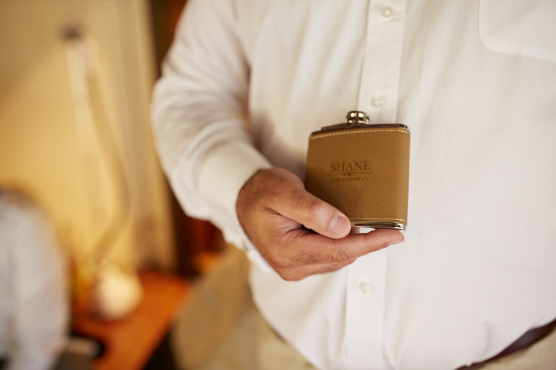 Groom's Gift: Personalized Flasks