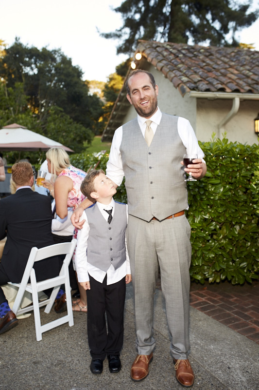 When you've got a tall groom it makes sense to pair him up with the Ring Bearer.