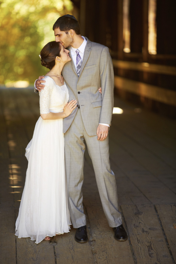A Kiss in the Felton Covered Bridge