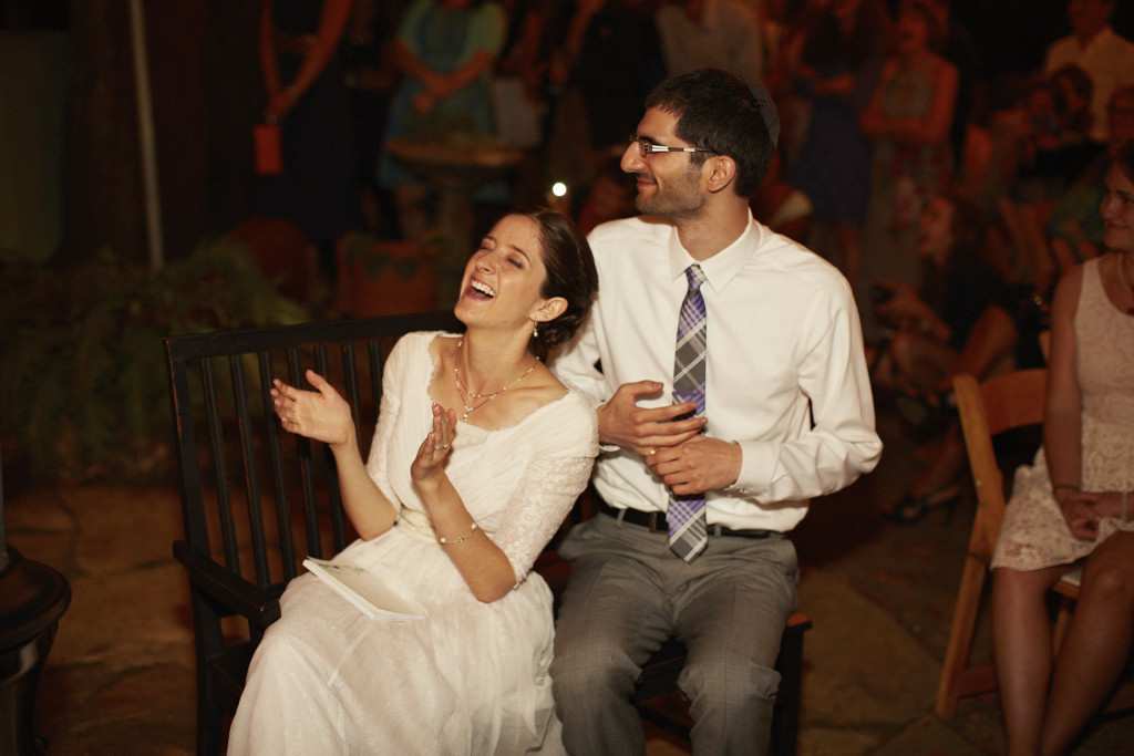 Laughing through the wedding toasts