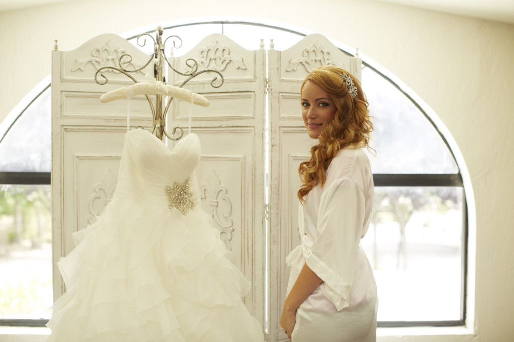 The bride in her dressing room