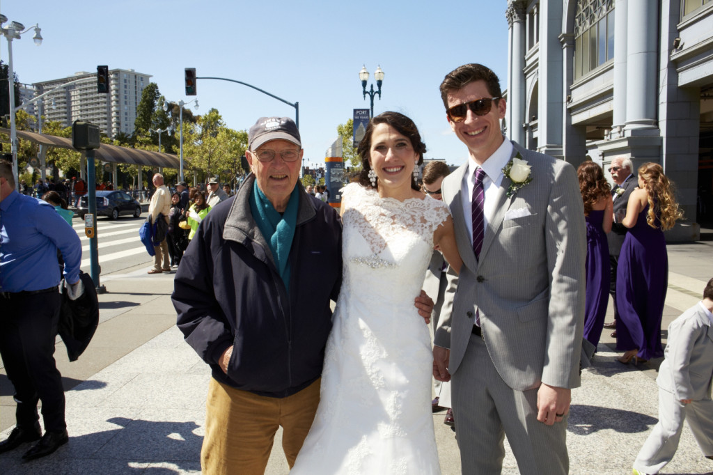This charming tourist asked so politely if he could take a photo of the bride, we asked if we could have a photo with him.