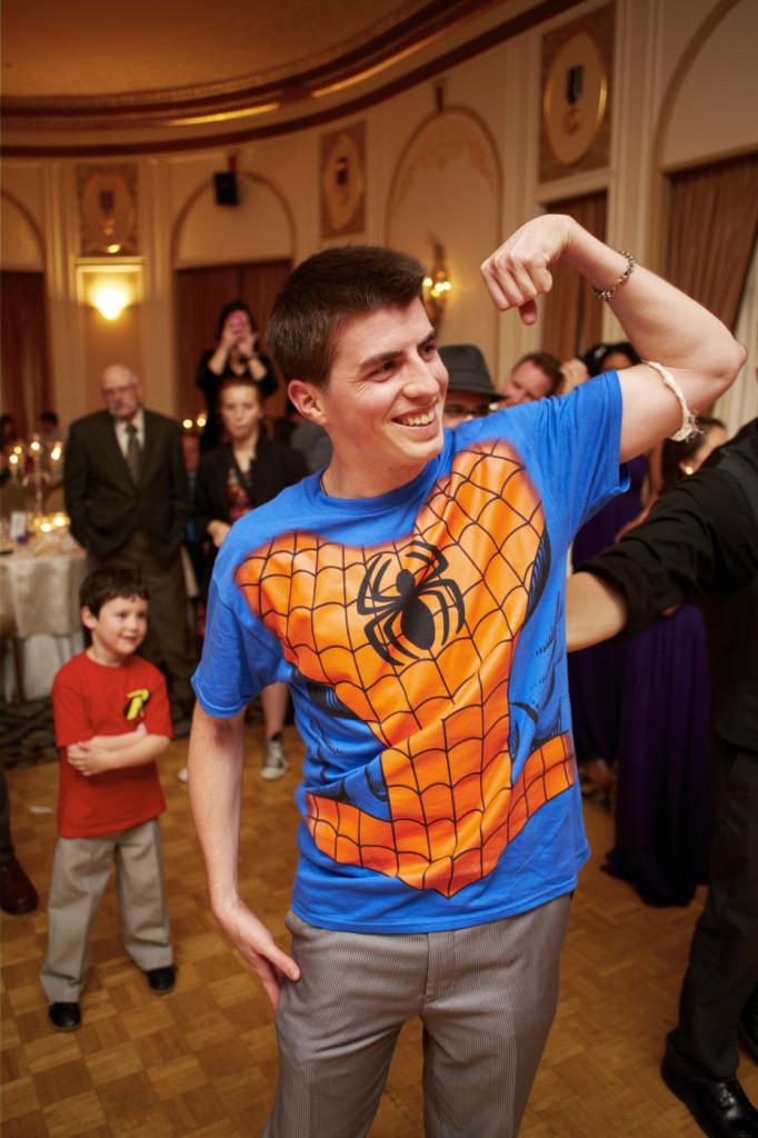 Spider/Groomsman with the garter belt.