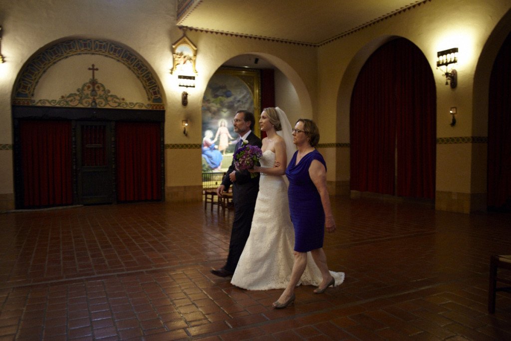 Walking Down the Aisle to the Ceremony