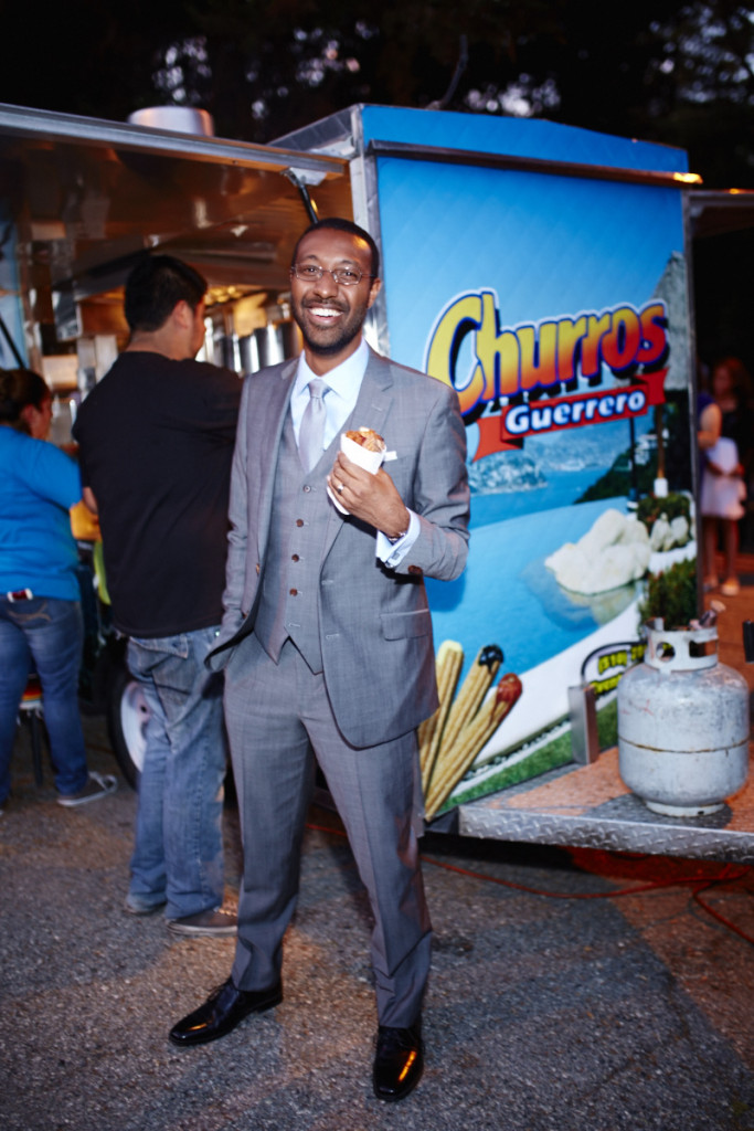 He's excited about the churros. (I was too.)