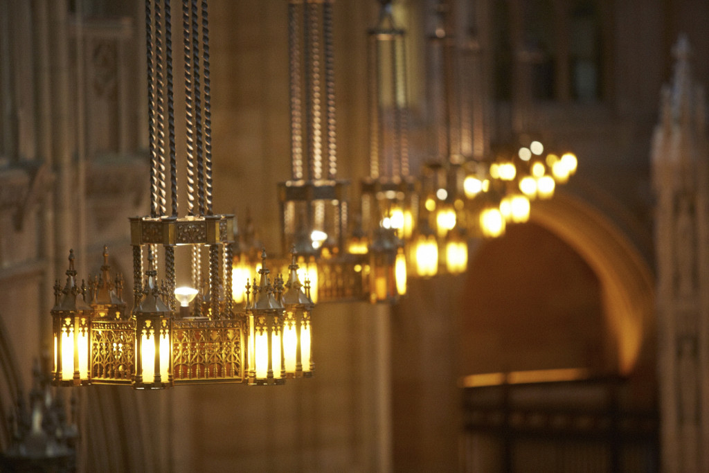The chandeliers at St Dominic's