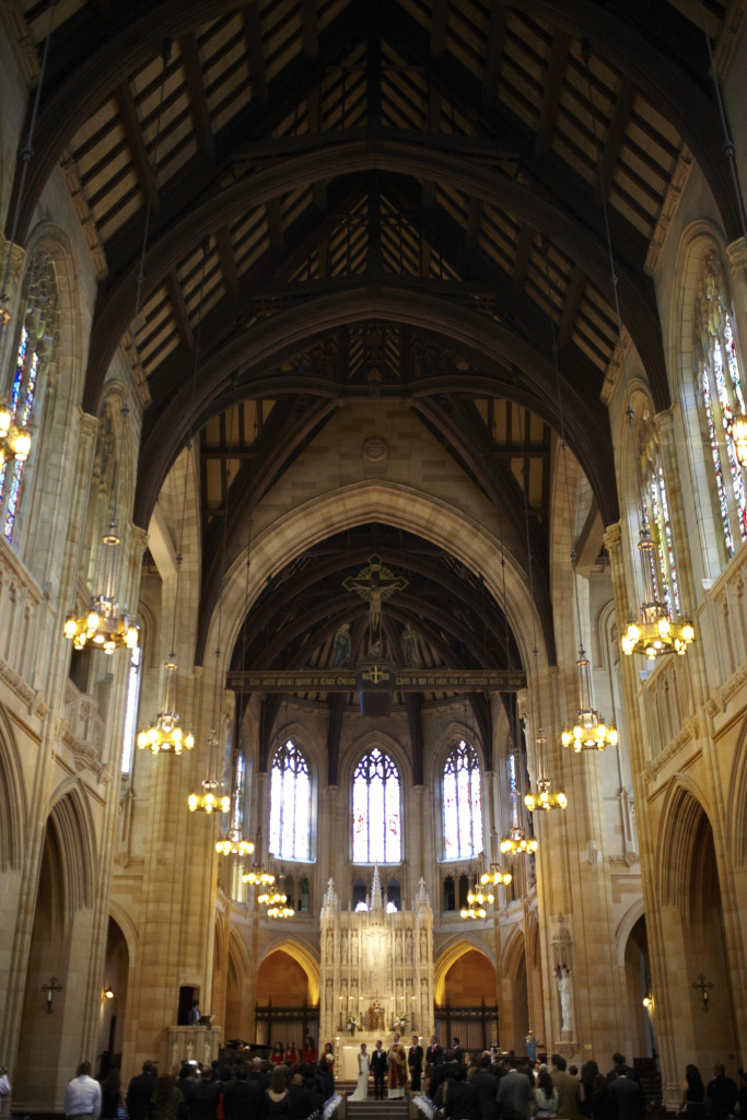 The church interior