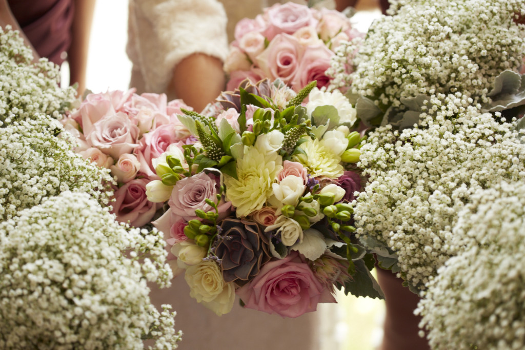 The Bride's and Bridesmaid's Bouquets