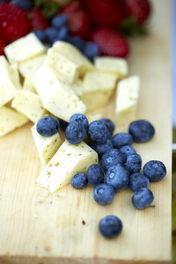 Cheese and Blueberries