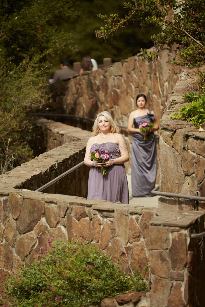 The bridesmaids enter
