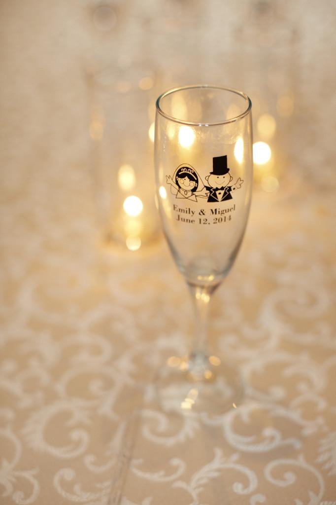 Custom champagne glasses