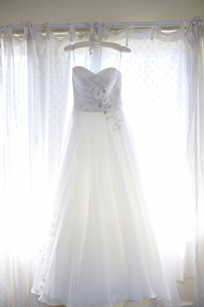 Strapless Sweetheart Wedding Dress with Floral Detail