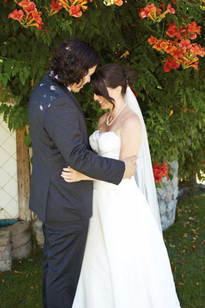 A hug after their first look