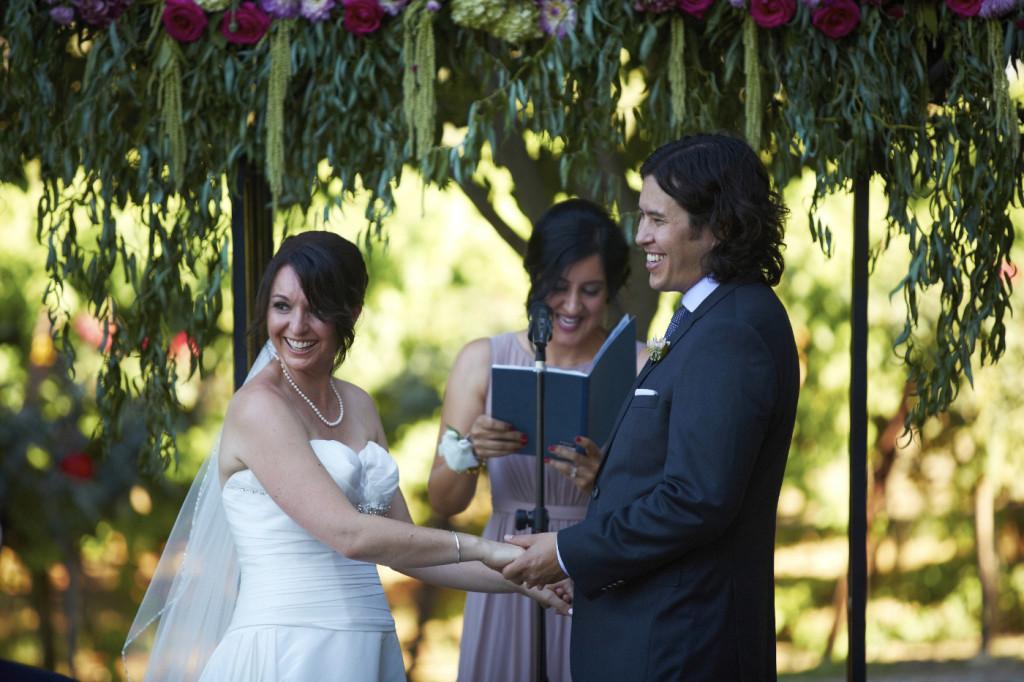 A joyful wedding ceremony