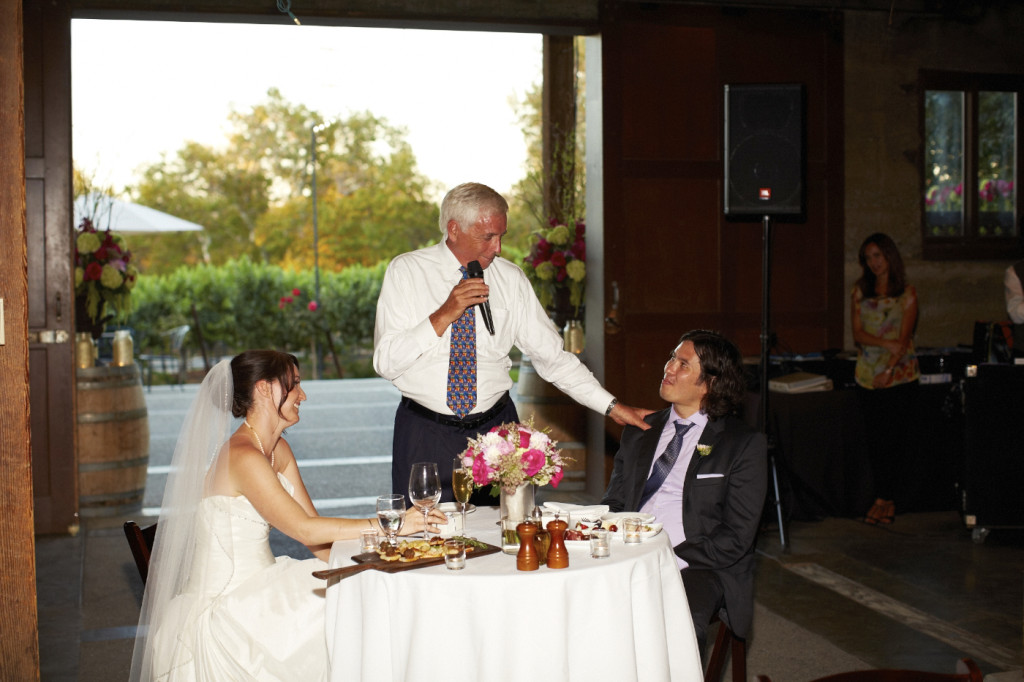 The father of the bride's toast