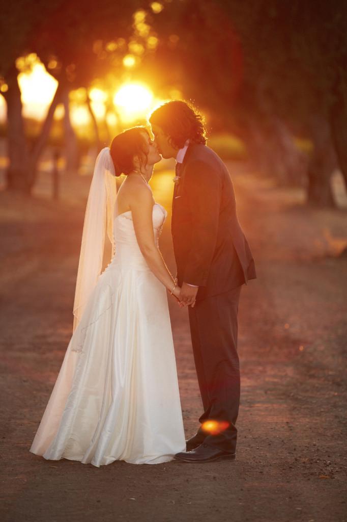 A kiss a sunset