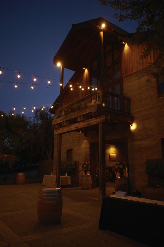 Wente vineyard at night